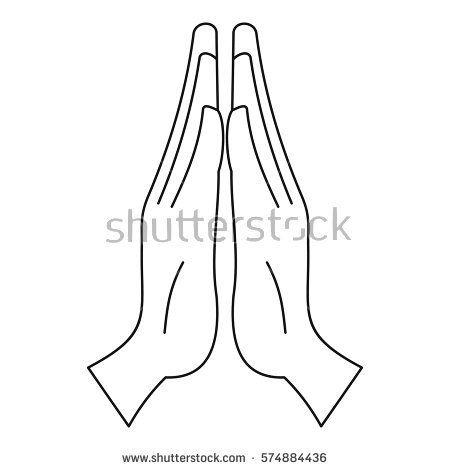 Prayer icon. Outline illustration of prayer vector icon for web