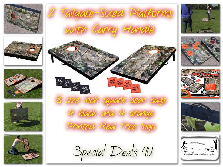 Camo Cornhole Realtree Bag Toss Game Set Bean Baggo Hunting Tree Camouflage New #New