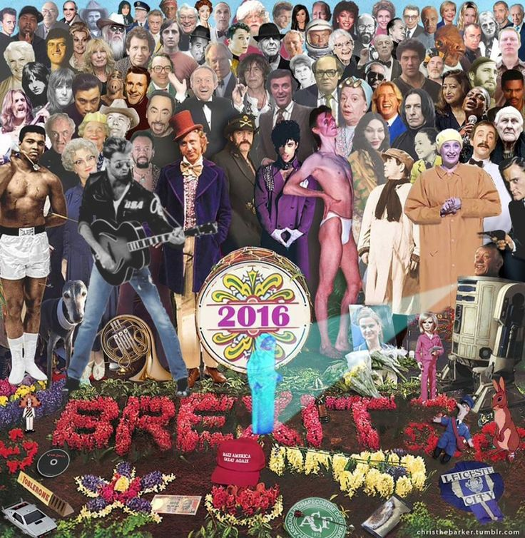 Someone Gave the Stars We Lost in 2016 the Sgt Pepper's Treatment