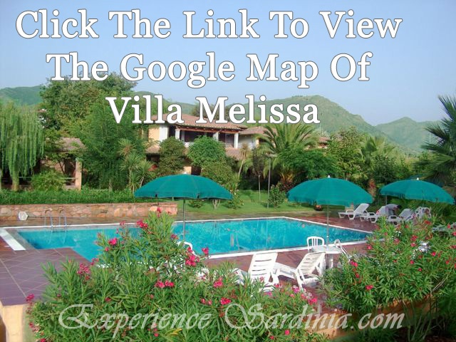 A Google map of the #Sardinia #Accommodations Villa Melissa