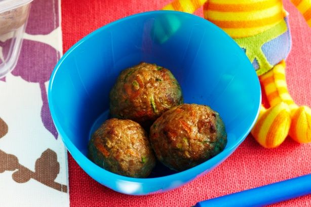 Meatballs (age 9-12 months) -- Good nutrition is important for growing babies, so fill your little one up with these homemade meatballs.