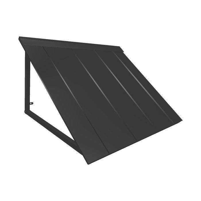 Houstonian Metal Standard Window Awning Window Awnings Metal Awning Standing Seam