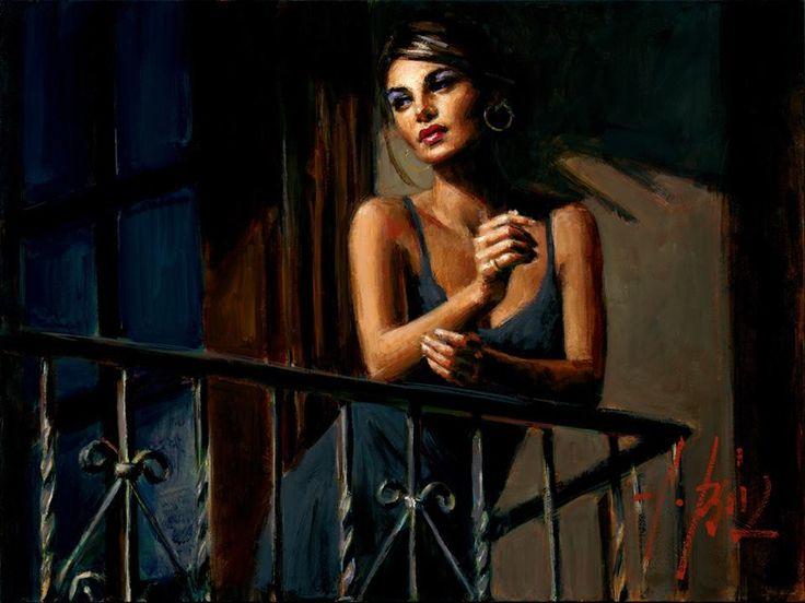 saba at the balcony by fabian perez