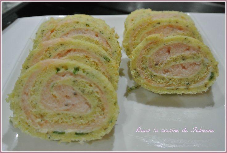 biscuit roulé au saumon et mascarpone
