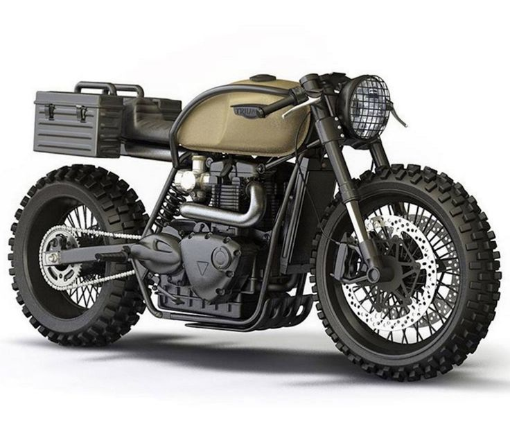 Triumph. Military style cafe racer.