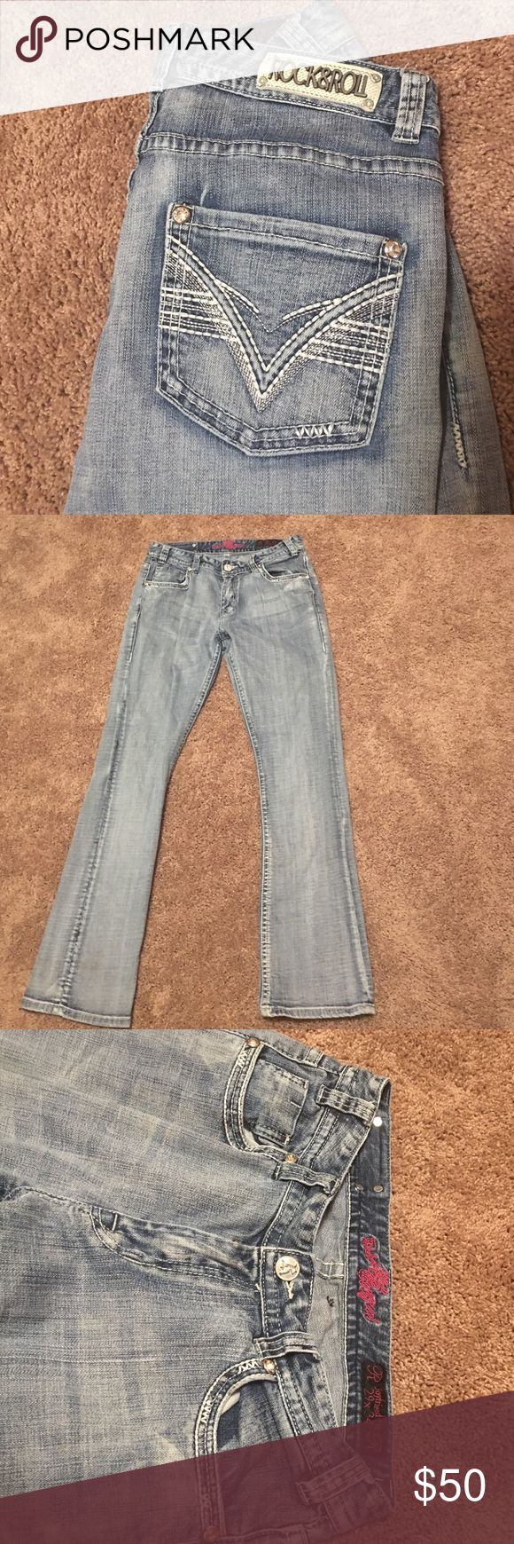 Rock and roll cowgirl boyfriend jeans Rock and roll cowgirl boyfriend jeans excellent condition Rock & Roll Cowgirl Jeans Boyfriend