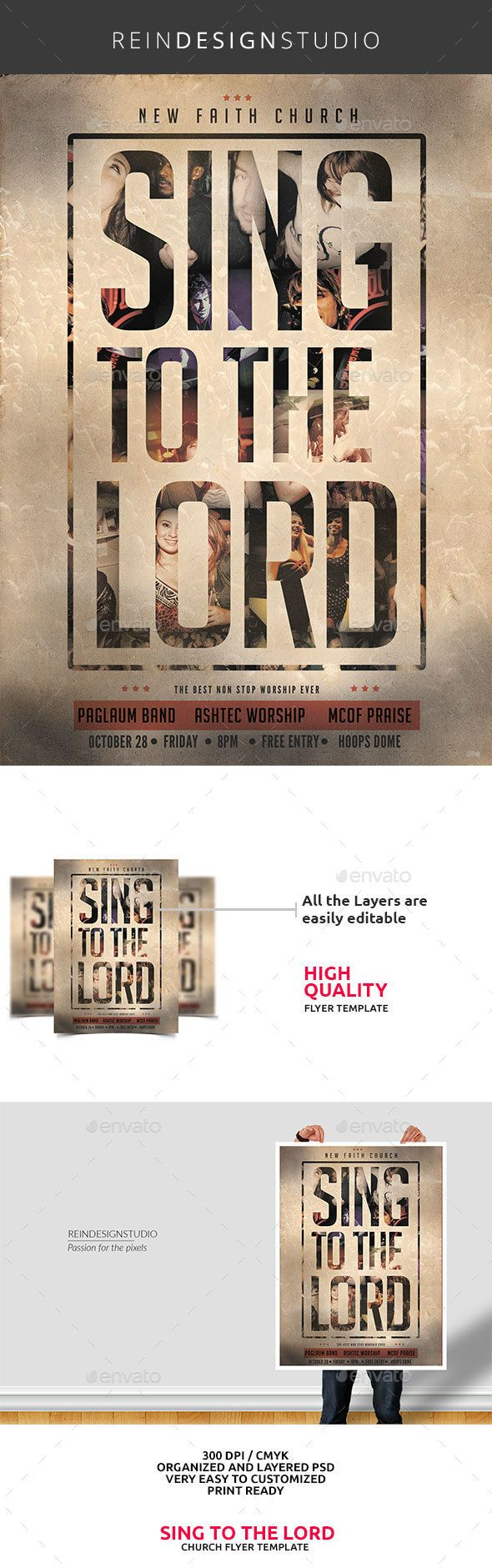 Sing to the Lord Church Flyer 159