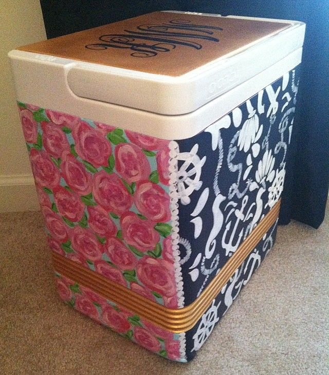 Diy Painted Cooler : Best hand painted coolers ideas on pinterest