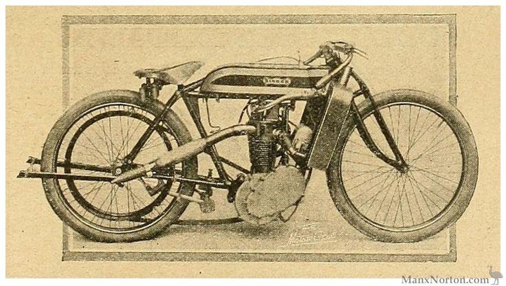1912 Singler Racer 499cc four-valve head http://cybermotorcycle.com/gallery/singer/images/Singer-1912-4-Valve-05.jpg
