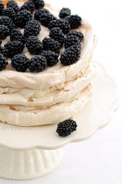 Tort bezowo - kawowy