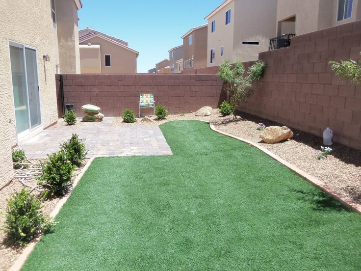 Pavers and Artificial Grass
