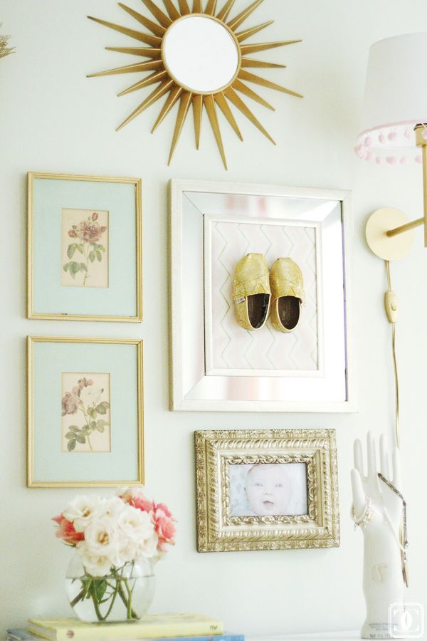 Frame special shoes and use as #nursery art! via Charming in Charlotte www.charmingincharlotte.blogspot.com