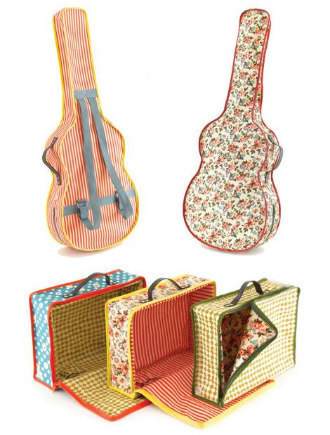 Fabric suitcase >> The guitar is perfect for my nephew!