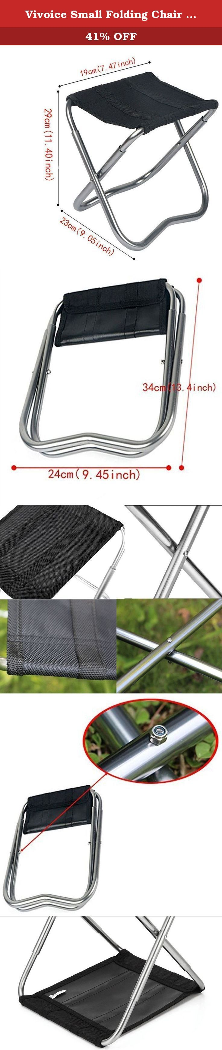 Vivoice Small Folding Chair Stool Camping Stool Furniture Stools Camp Stool for Camping/Traveling. The main material of high strength aluminum alloy, its strength is good,texture,light,compact and solid,lightweight and flexible. The Stool can be used as a stool, table or footrest. Unfolded size about 19x29x23CM(7.47x11.40x9.05)inch, folded size about 24x34CM(9.45x13.4)inch ,Weight about 350g. Folding design makes it easy to take everywhere you go. Tips:Before you buying,please pay…