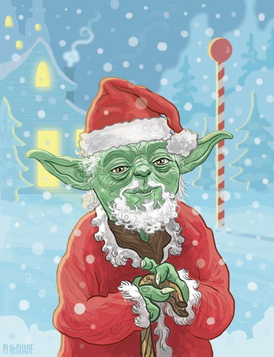 Artist PJ McQuade (previously at Neatorama) created four new designs for his Star Wars Christmas card series.