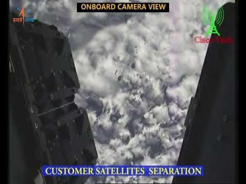 ISRO PSLV C40 Cartosat 2 Series Mission Liftoff Onboard Camera View | अं...