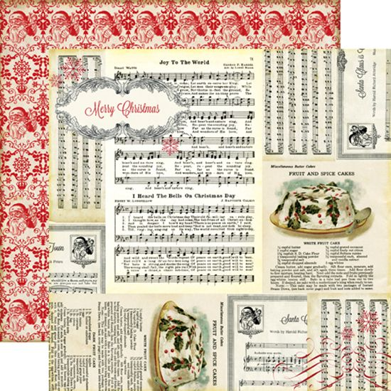 Echo Park - Reflections Collection - Christmas - 12 x 12 Double Sided Paper - Joy To The World at Scrapbook.com