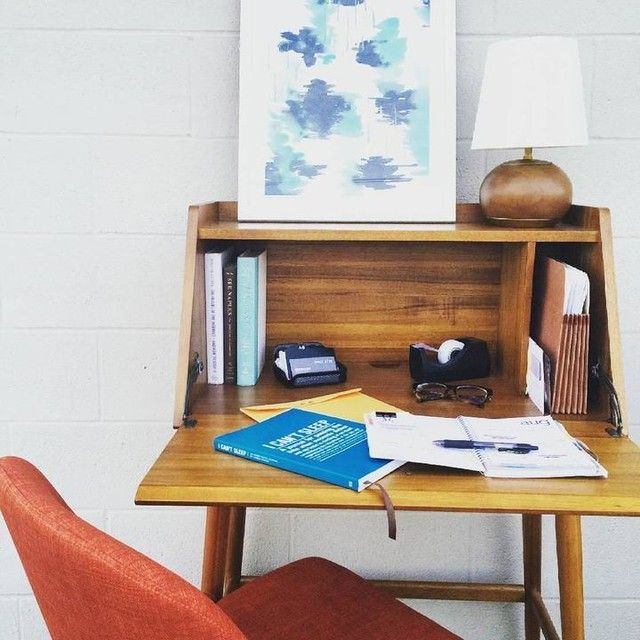 Create Your Own Work Nook With This Mid Century Mini Secretary Desk Inspired By 50s And 60s Furniture Designs Don T Miss Your Last Chance To Save 30 Off Modern Secretary