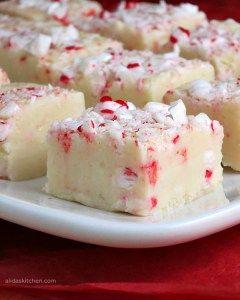White Chocolate Peppermint Fudge | alidaskitchen.com