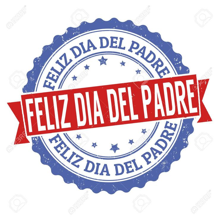 Happy fathers day sign or stamp, in spanish or catalan
