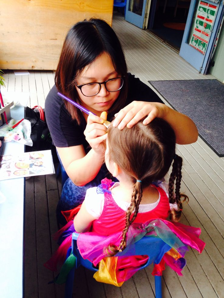 Face painting in child care centre