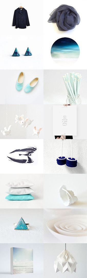 blue ombre :: treasury by Barbara on #Etsy #white #gifts #women #vintage #home #decor