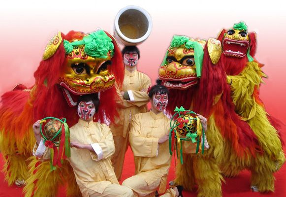 CHINESE THEMED ENTERTAINMENT TO HIRE - LION DANCERS LONDON MANCHESTER BIRMINGHAM
