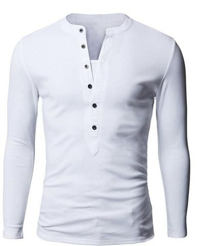 Mens Long-sleeved Polos  Fashion Casual Slim Fit - All In One Place With Us - 4