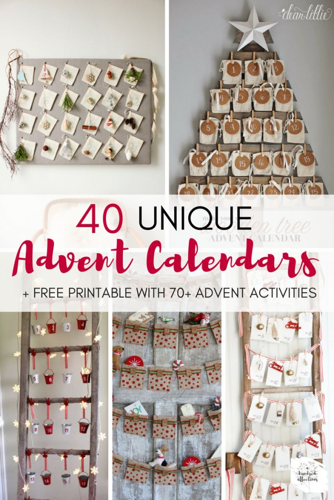 40 Unique Advent Calendars + Free Printable with 70+ Advent Activities - A Hundred Affections