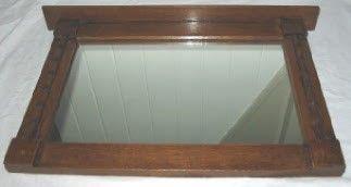 Spiegel in eiken lijst met kraaldelen