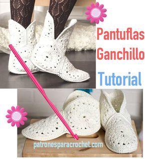tutorial pantuflas crochet