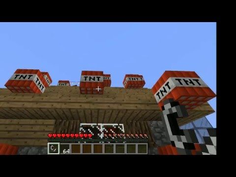 Total House Bomb Over Minecraft Mini Game - YouTube