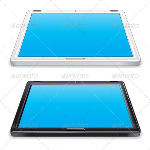 Black and White Tablet PC  #GraphicRiver         Black and White Abstract Tablet PC   - vector illustration, only simply linear and radial gradients used   - vector objects grouped   - no blends, gradient mesh used   - vector available CMYK ready for print   - pack include version AI, CDR, EPS, JPG  Keywords: isolated, realistic, communication, document, equipment, information, office, screen, work, write, flat, white background, set, multimedia, industry, fake, chinese, model, store…