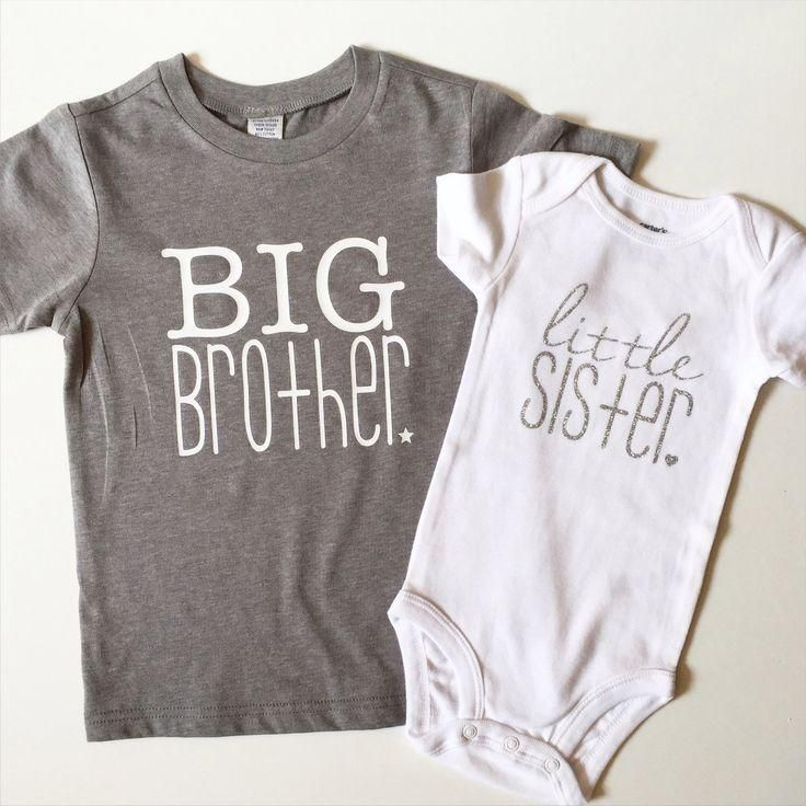 Big Brother and Little Sister Sibling Shirt Set