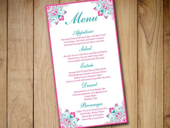 The 25+ best Diy wedding menu cards ideas on Pinterest Rustic - event menu template