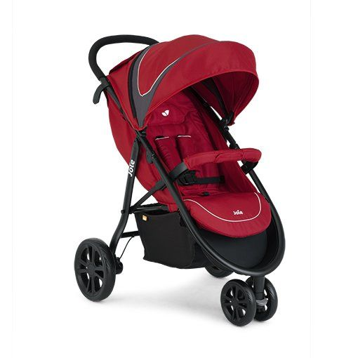 Joie Litetrax 3 Wheel Stroller and Cupholder (inc Footmuff) - Apple. On sale this week only!
