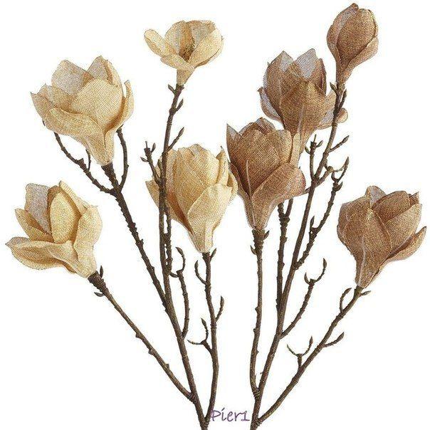 flores de arpillera o tela de yute-5 http://diarioartesanal.com/decoracion-calida-y-rustica-modelos-de-flores-de-arpillera/