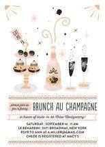 Brunch Au Champagne Bridal Shower Invitations by B... | Minted