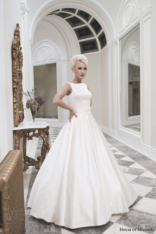 house of mooshki bridal rose 1950s style sleeveless bateau neck wedding dress circle skirt
