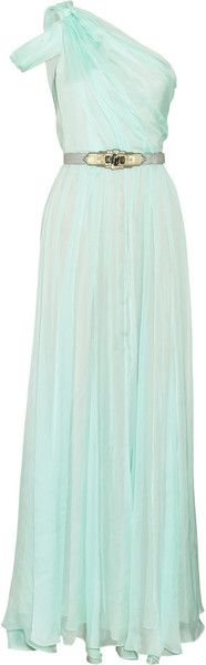 Pleated Silk Chiffon Gown - Lyst  wish i was tall enough for this :(