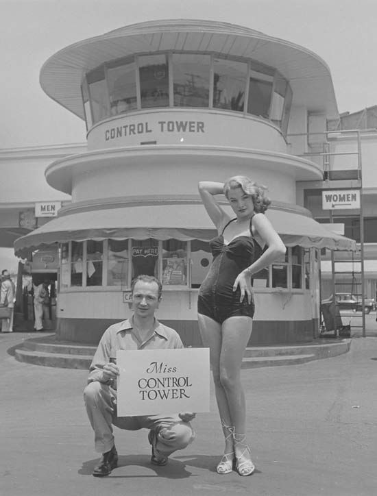 Miss Control Tower ~ Muller Bros Olds & Firestone Strange Beauty Queens, 1951