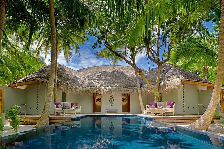 Красивый отель на Мальдивах фото