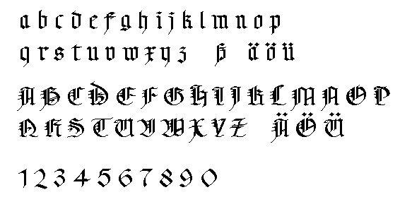 """Képtalálat a következőre: """"gotische schrift alphabet"""""""