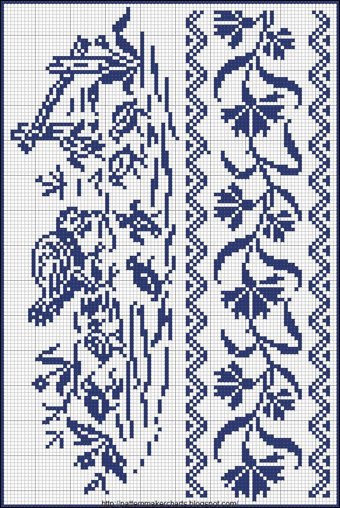 Free Easy Cross, Pattern Maker, PCStitch Charts + Free Historic Old Pattern Books: Sajou No 657