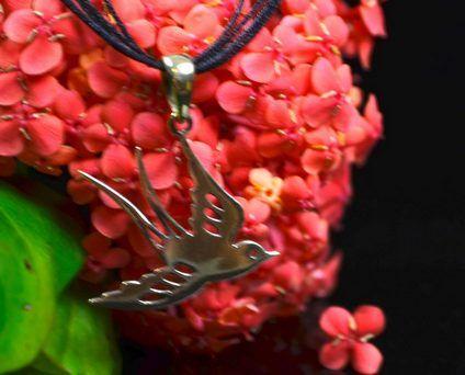 brass-bird Pendant Melanie Woods World Jewellery