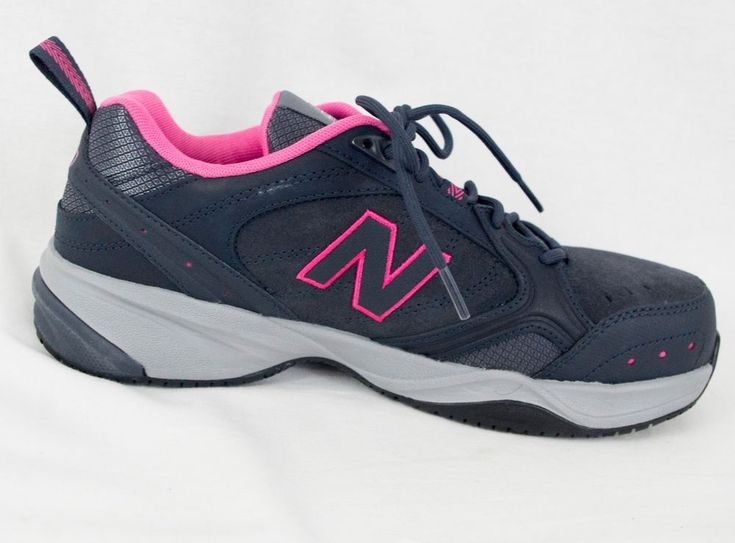 Steel Toe Work Shoes Slip Resistant New Balance 627v1 Size 9 B Dark Gray Pink #NewBalance #WorkSafety