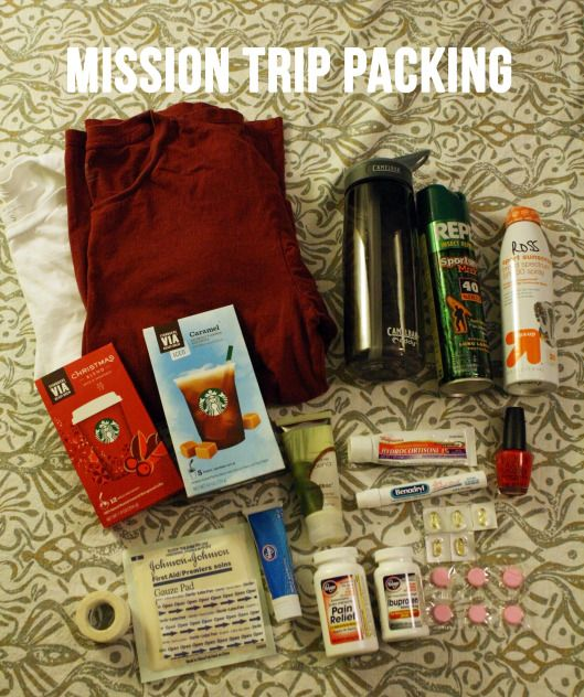 Mission trip packing
