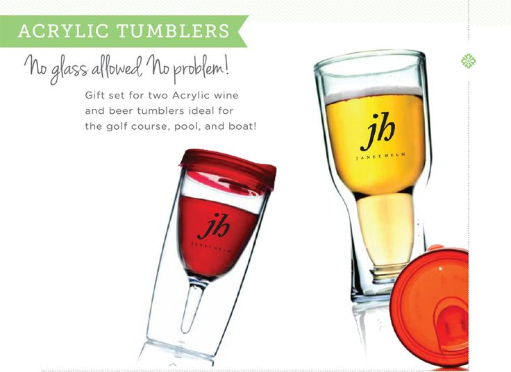 May Issue. Janet Helm beer & wine Tumblers #recognition #corporategifts