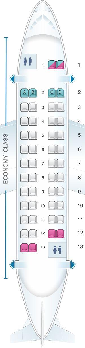 Seat Map Aer Lingus ATR 42 300