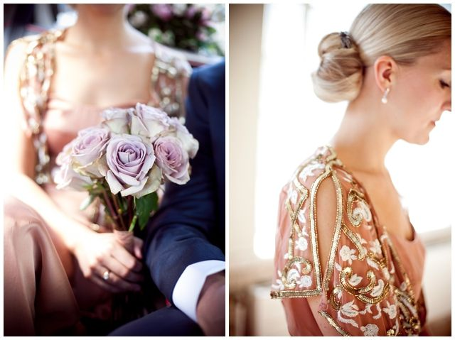 Chic Gastropub Celebration - Temperley Dress - Lilac Roses - Photography by Emma Sekhon